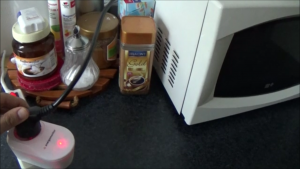Mikrowelle Stromverbrauch mit der Plugsense Steckdose prüfen