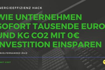 WIE UNTERNEHMEN SOFORT TAUSENDE EURO UND KG CO2 MIT 0€ INVESTITION EINSPAREN